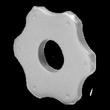 Шестиконечная звезда (ламель) с твердосплавными наконечниками Ø56х18х6